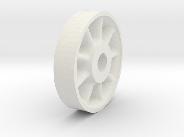 26in Wheel Center in White Natural Versatile Plastic