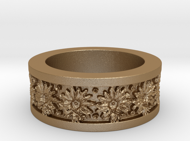 Sunflower Ring Ring Size 7 3d printed