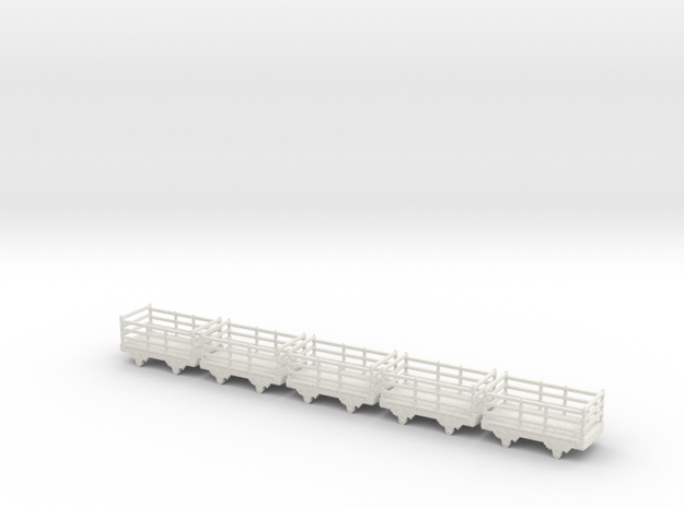 Sn2 Festiniog wooden slate wagon x5 3d printed