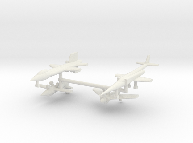1/285 Experimental Aircraft Set 1 in White Natural Versatile Plastic