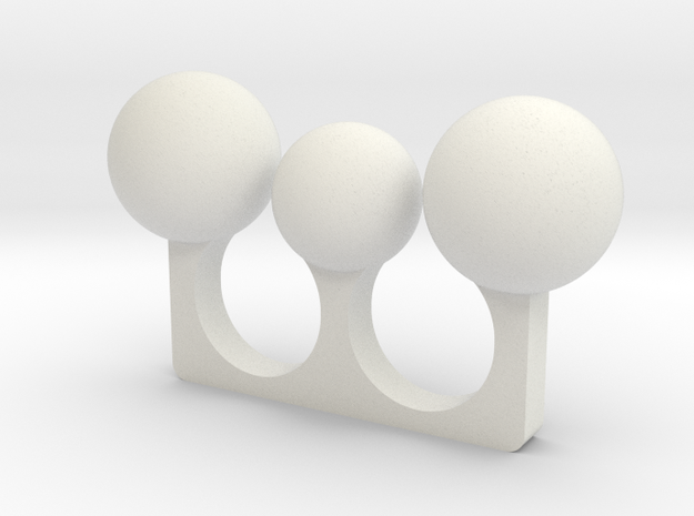 3 Sphere Open Ring 3d printed