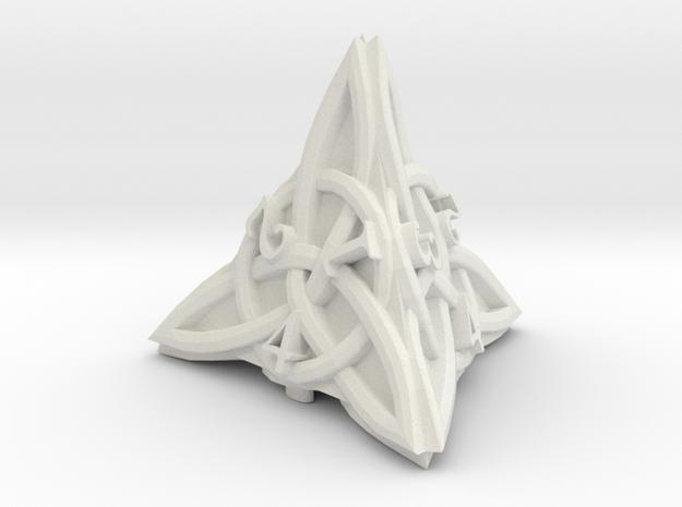 Celtic D4 - Solid Centre for Plastic in White Natural Versatile Plastic