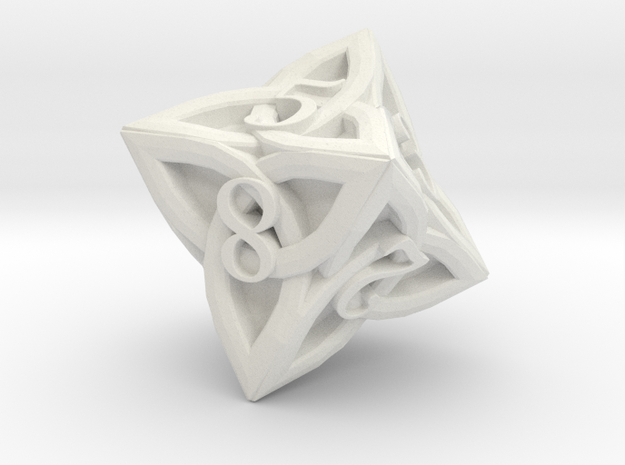 Celtic D8 - Solid Centre for Plastic in White Natural Versatile Plastic