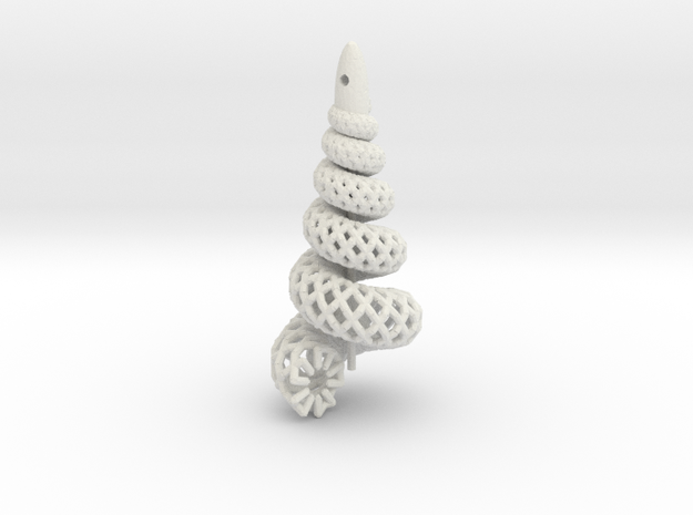 Shell Mesh Single (the original) 3d printed Shell mesh earring