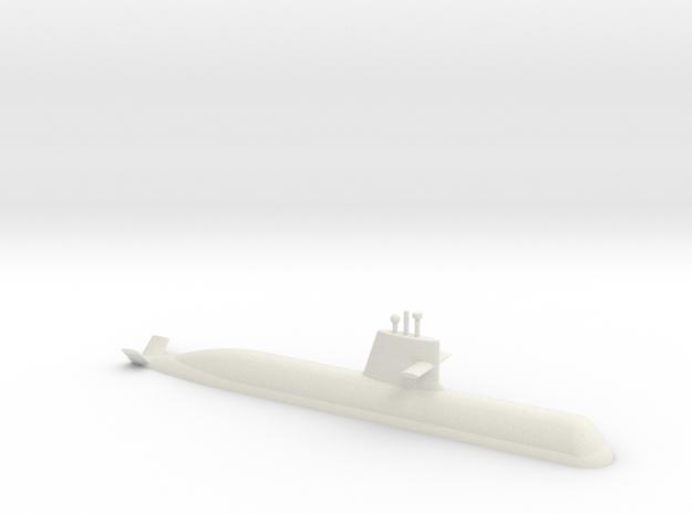1/700 Soryu Class Submarine (Waterline) in White Natural Versatile Plastic