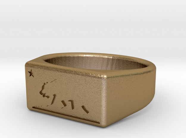 Size 6 - Ring of the Bear Flag Republic 3d printed