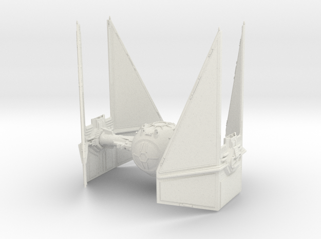 Tie Interceptor in White Strong & Flexible