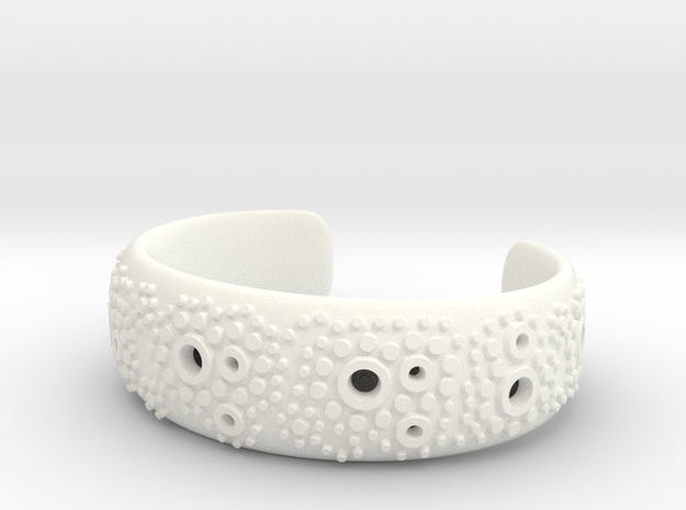 Textured Cuff - size S in White Processed Versatile Plastic