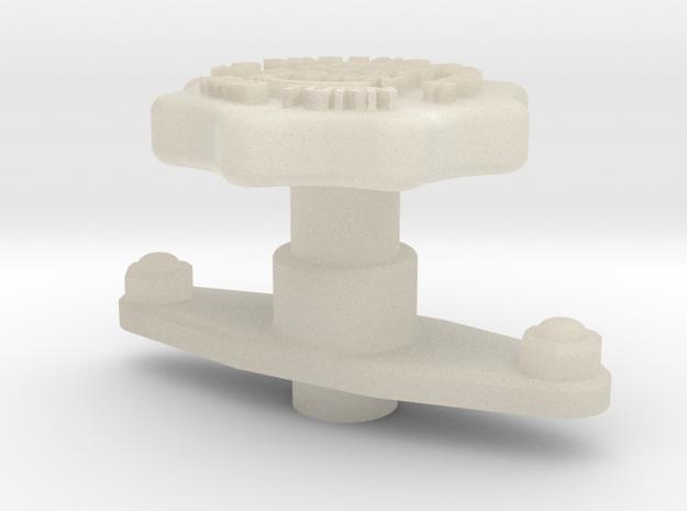 1:6 Scale HUEY Foot Pedal Adjustment Knob 3d printed