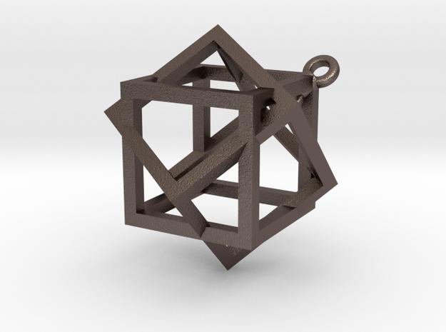 Boxed Box Pendant 3d printed
