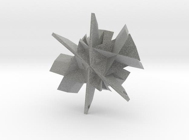 Geometric Necklace in Metallic Plastic