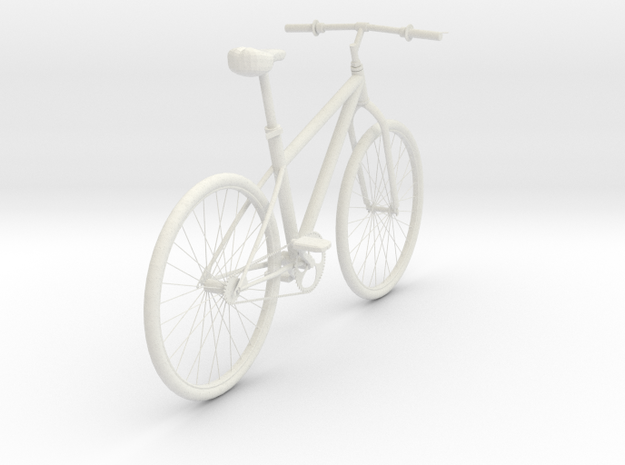 Bicycle 1-6 in White Natural Versatile Plastic