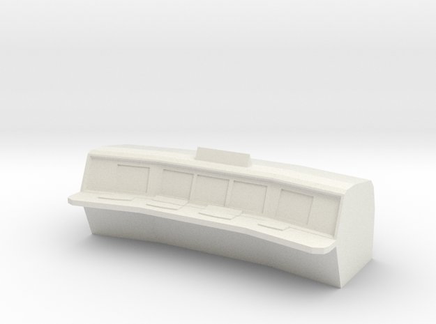 Control Room Console V2 in White Natural Versatile Plastic
