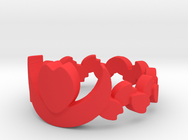 Cafe Nocturne Floral Band Ring Size 9.25 3d printed