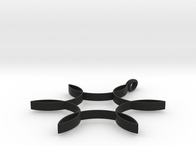 Hexafoil Pendant 1/2-Size 3d printed