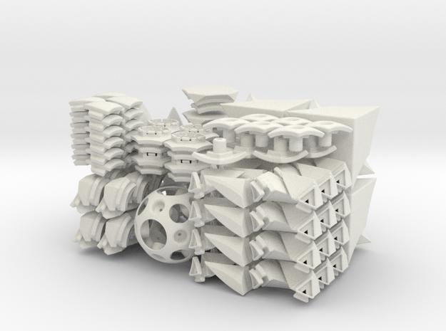 Cubic Toru Puzzle in White Natural Versatile Plastic