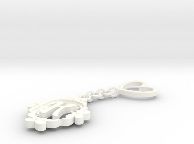 K Keychain Art Nouveau 3d printed