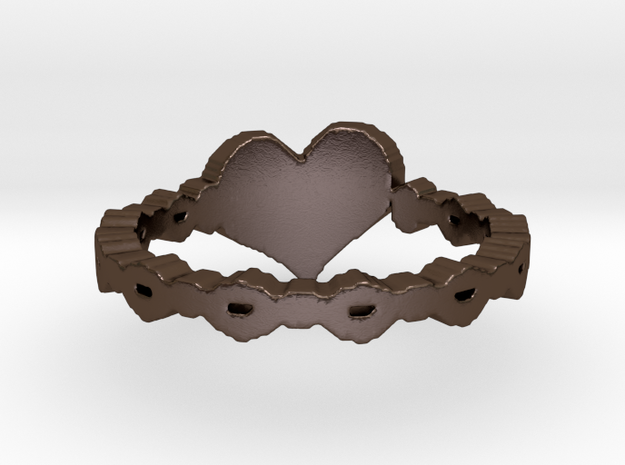My beautiful heart Ring Size 8 3d printed