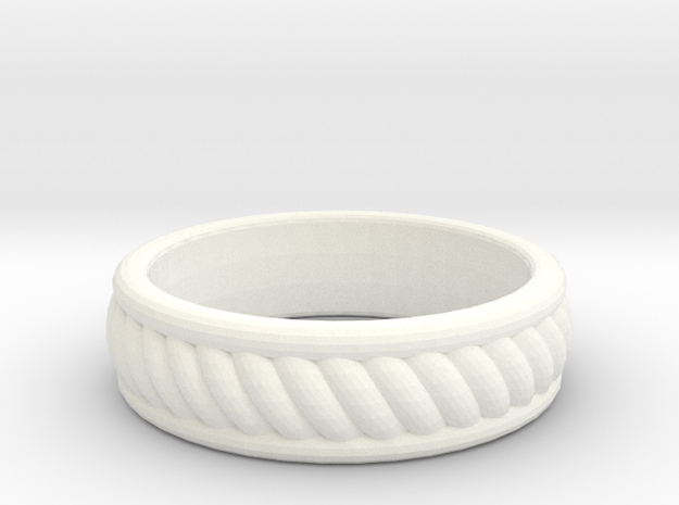Twist Band Ring - 9½ 3d printed