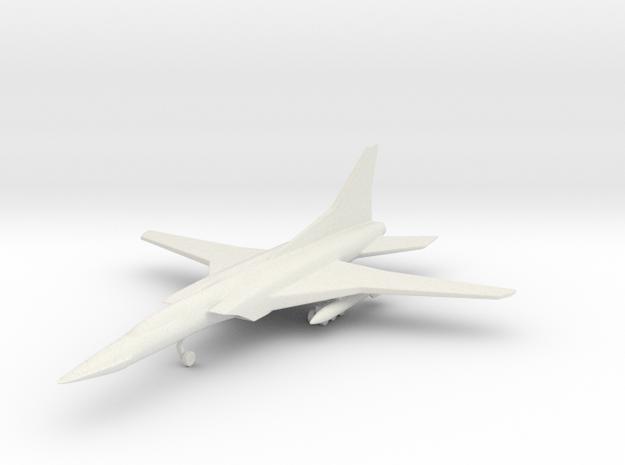 1/285 (6mm) TU-22 Backfire  in White Natural Versatile Plastic