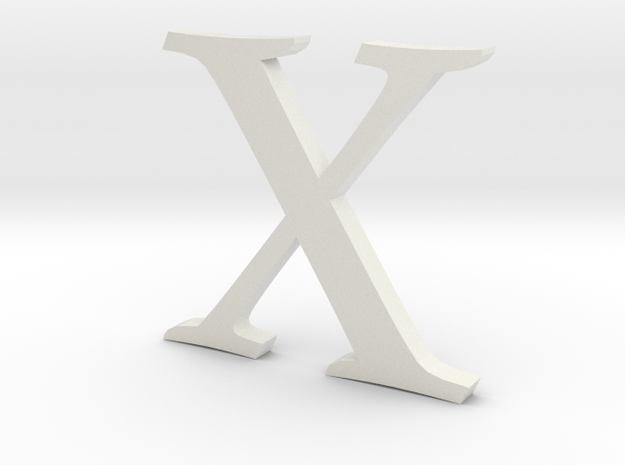 X (letters series) in White Natural Versatile Plastic