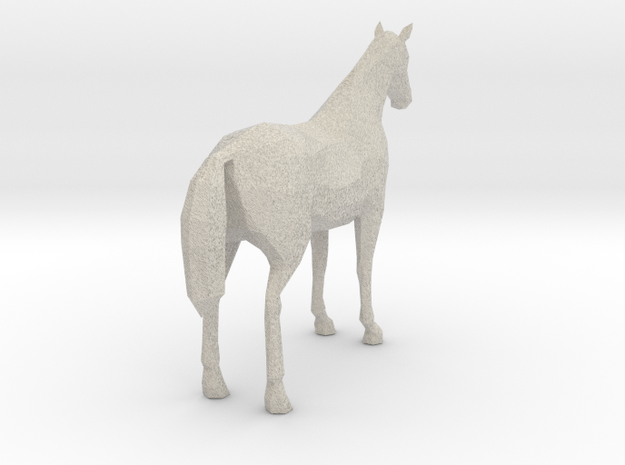 Horse Ultra Black Fancy 3d printed