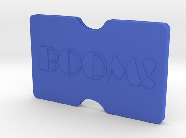 Custom Slimline 3 Card Wallet in Blue Strong & Flexible Polished