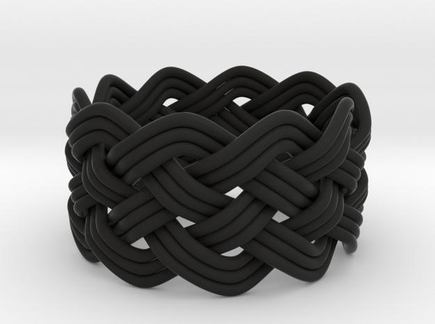 Turk's Head Knot Ring 5 Part X 10 Bight - Size 10 3d printed