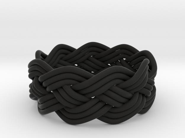 Turk's Head Knot Ring 4 Part X 9 Bight - Size 8 3d printed