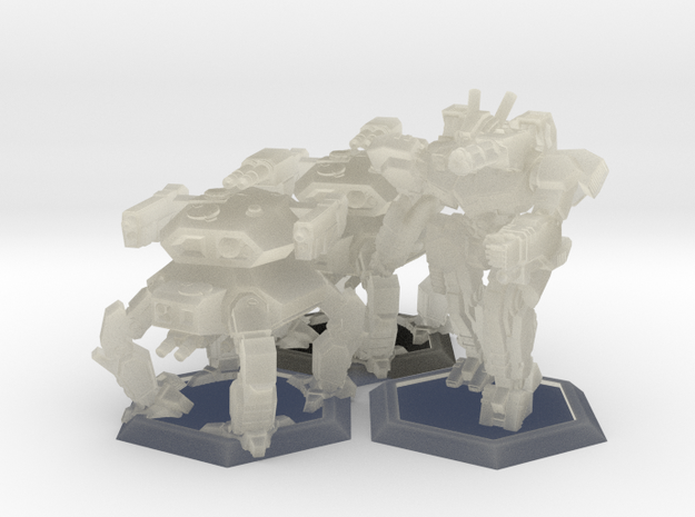 WHAM- Fusion Era Battle Pack A (1/285th) 3d printed
