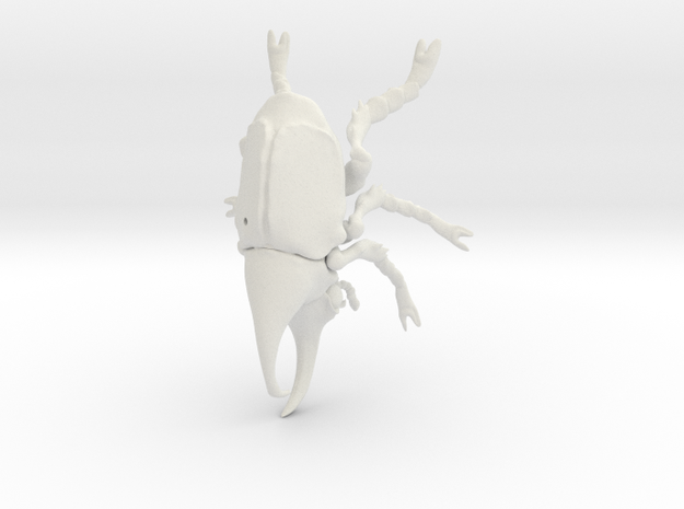 Rhino beetle small with pinhole 3d printed