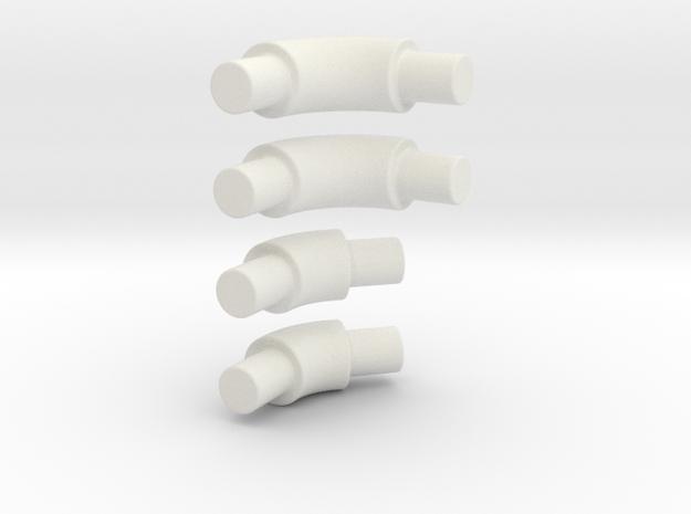 45 & 90 degree bend tube for roll bar in White Natural Versatile Plastic