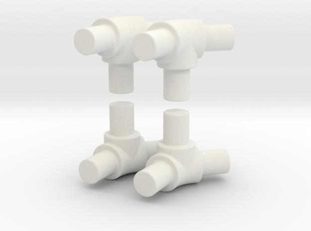 45 degree bend tube for roll bar in White Natural Versatile Plastic