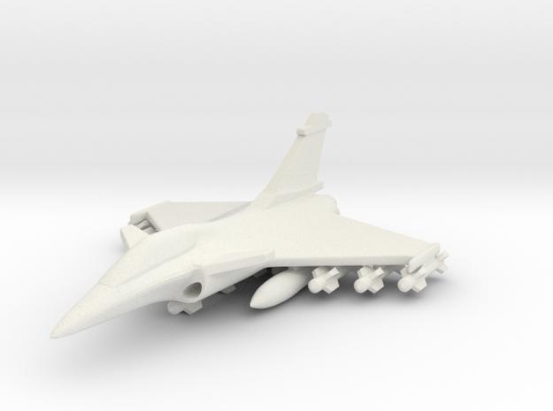 1/285 (6mm) Rafale  w/Ordnance in White Natural Versatile Plastic