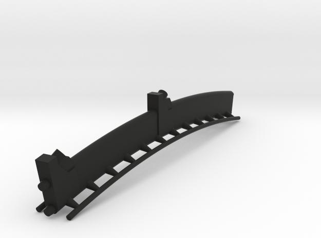 Schwarze Große Schiene  3d printed