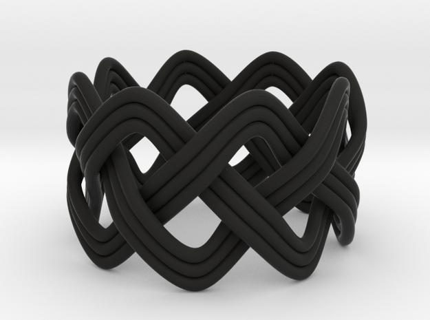 Turk's Head Knot Ring 3 Part X 8 Bight - Size 7 3d printed
