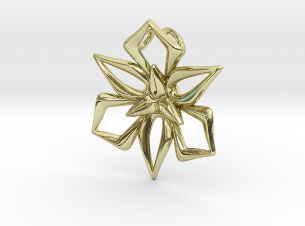 Great Lily Pendant 3d printed
