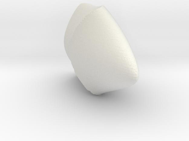 Punt in White Natural Versatile Plastic