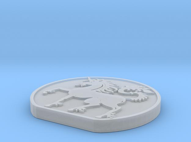 Unicorn in Smooth Fine Detail Plastic