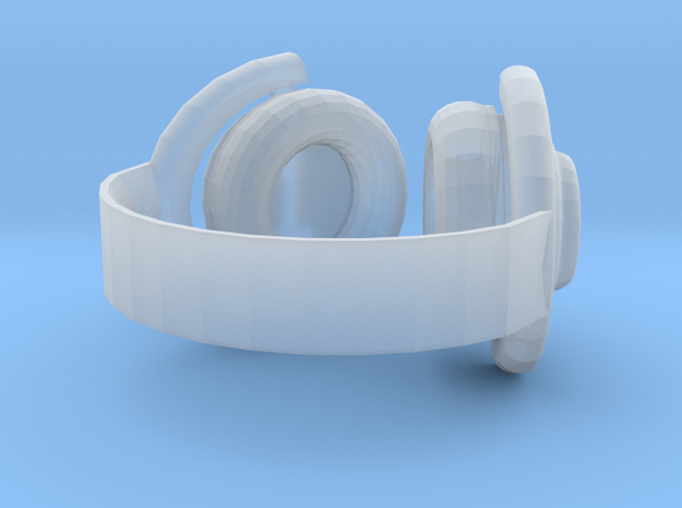 Headphones in Smooth Fine Detail Plastic