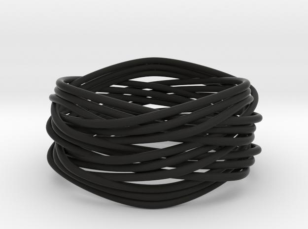 Turk's Head Knot Ring 5 Part X 3 Bight - Size 14.5 3d printed