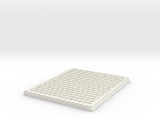 Peterbilt 281 Grille Alt3 in White Natural Versatile Plastic