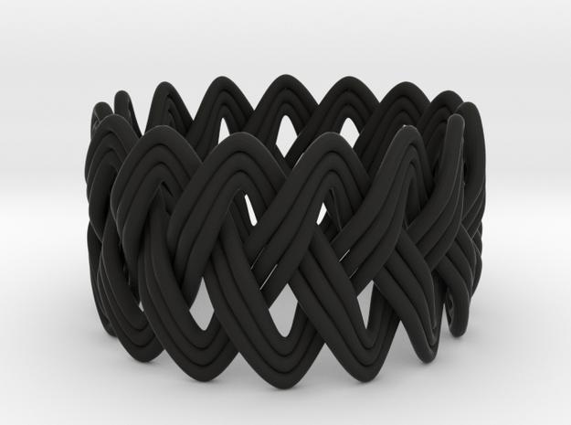 Turk's Head Knot Ring 3 Part X 15 Bight - Size 10 3d printed