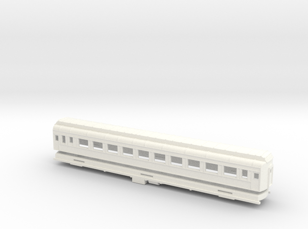 Z Scale Pullman Heavyweight Coach Car in White Processed Versatile Plastic