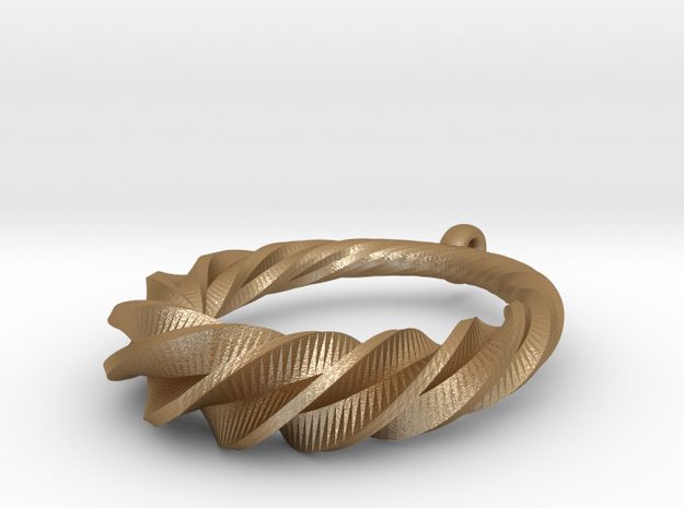 Twisted Spiral Pendant 3d printed