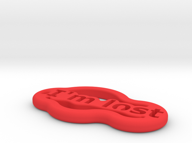 IMPRENTA3D AIM LOST in Red Strong & Flexible Polished