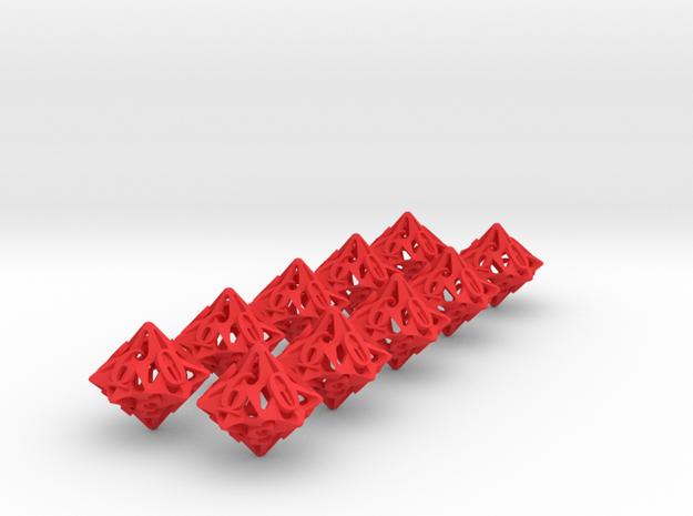 10d10 Pinwheel Set 3d printed