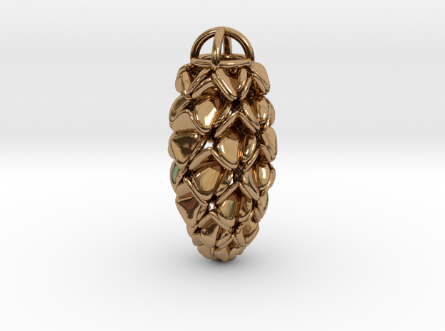 Pinecone Pendant 3d printed