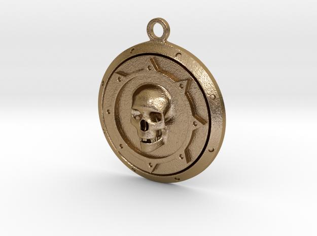 Skulls Medallion 3d printed