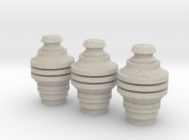 X-Wing Pilot Data Cylinders Heads in Sandstone